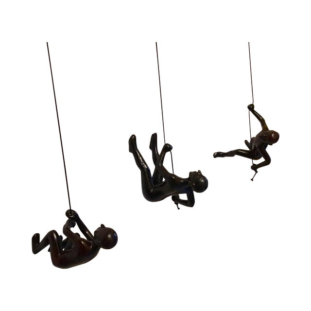 Climbing Man in Black - Set of 3 - Image 1 of 4