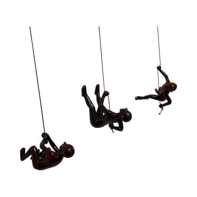 Image of Climbing Man in Black - Set of 3
