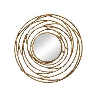 Modern Round Golden Frame Convex Mirror