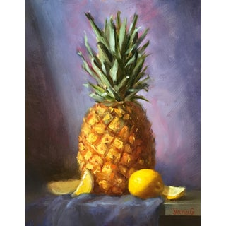 Pineapple & Lemons Original Oil Painting