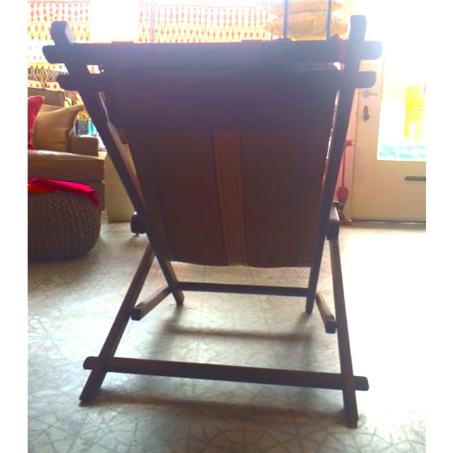 Mid-Century Wooden And Leather Lounge Chair - Image 4 of 4