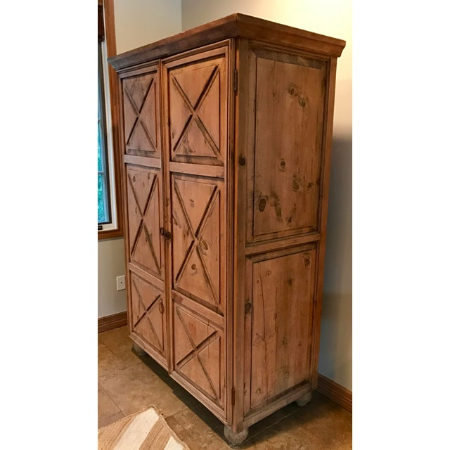 Customized Mexican Pine Cantina Dry Bar Cabinet - Image 3 of 10