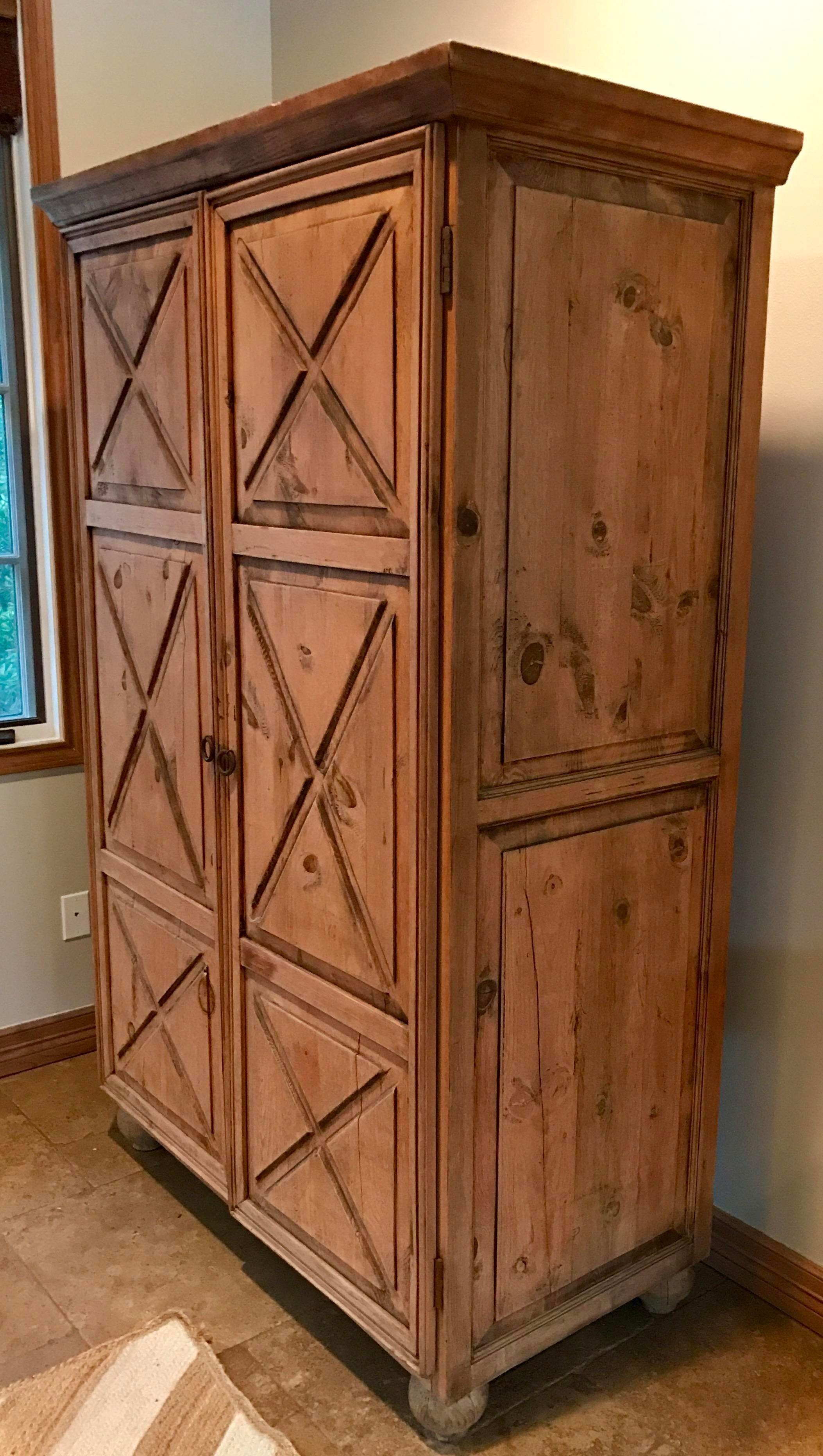 Customized Mexican Pine Cantina Dry Bar Cabinet   Image 3 Of 10