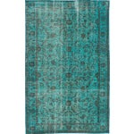 Image of Vintage Turkish Overdyed Rug - 6' X 9'9""