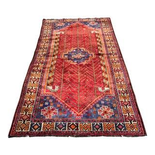"Vintage Persian Qashghi Area Rug - 4' x 7'8"""