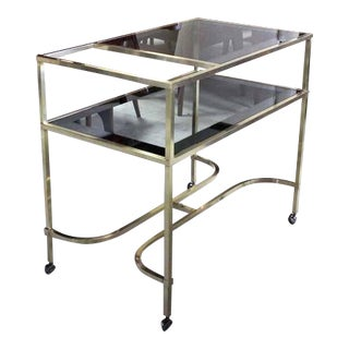 Nice Solid Brass Profile Serving Cart