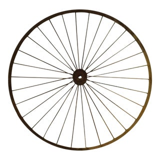Antique Wire Spoke Bicycle Wheel