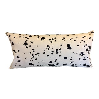 Lumbar Pillow in Black & White Pattern