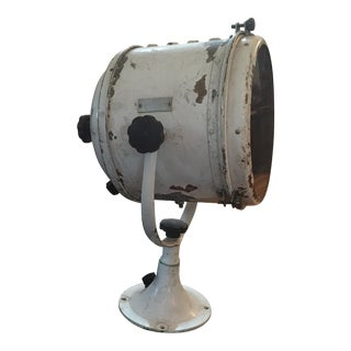 Antique Carlisle & Finch Brass Spotlight