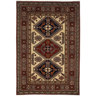 """New Traditional Hand Knotted Area Rug - 4'2"""" x 6'2"""""""
