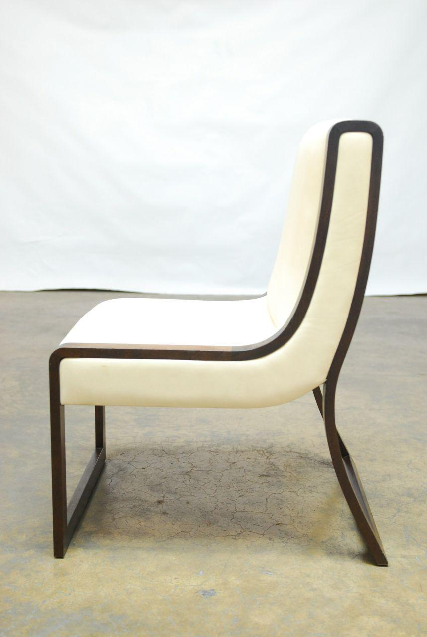 Wendell Castle Walnut And Leather Slice Chair   Image 5 Of 7