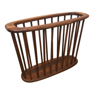 Arthur Umanoff Walnut Magazine Rack