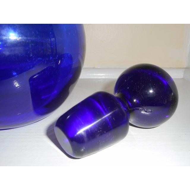 Cobalt Glass Decanter - Image 3 of 3
