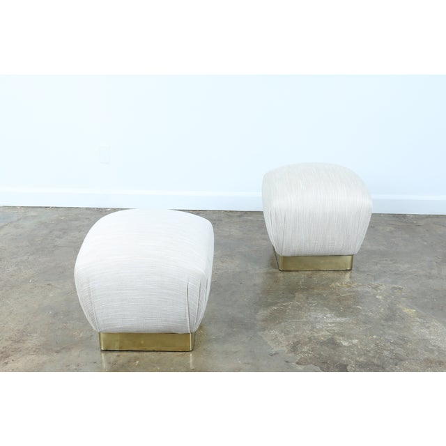 Karl Springer Soufflé Ottomans - A Pair - Image 9 of 10