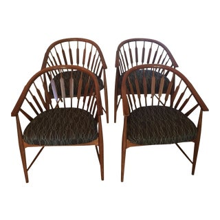 Kipp Stewart for Drexel Declaration Arrow Back Chairs - Set of 4