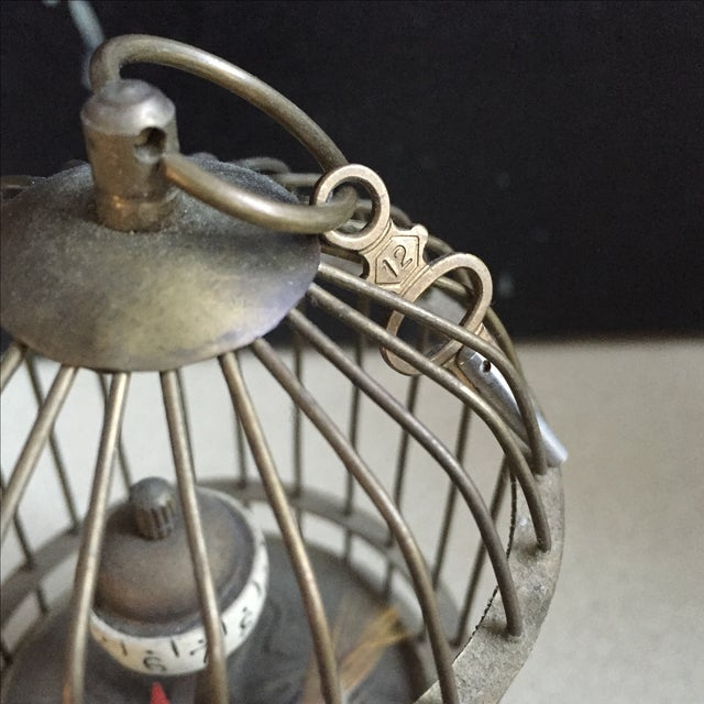 1800's Bird Cage Clock - Image 4 of 9