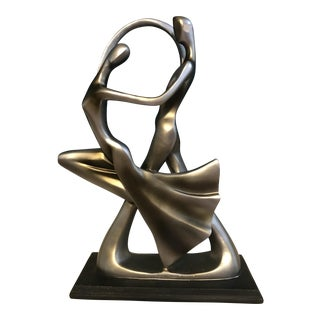 Contemporary Abstract Sculpture of a Man and Woman Dancing
