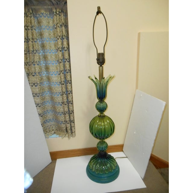 Murano Glass Lamp by Barovier Toso - Image 2 of 8