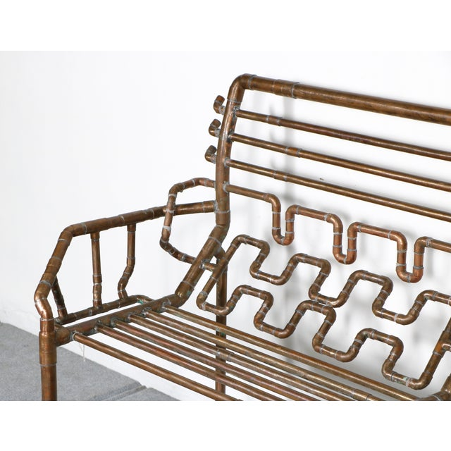 Modern Copper Pipe Bench - Image 5 of 11
