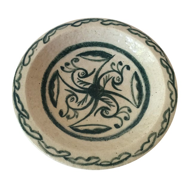 Vintage Footed Ceramic Bowl - Image 1 of 11