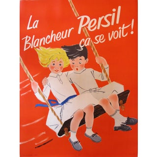 Vintage French Poster, Blancheur Persil Soap Ad