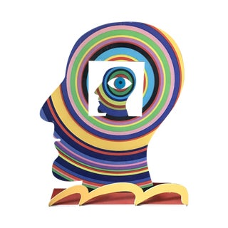 Gerstein Design Multicolor Steel Face Sculpture