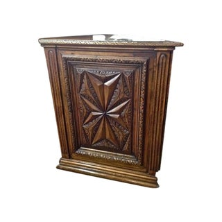 French Walnut Corner Cabinets - A Pair