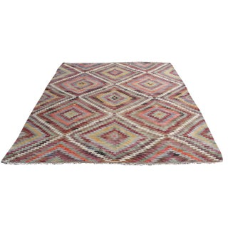 Vintage Turkish Kilim Rug - 7′3″ × 10′7""