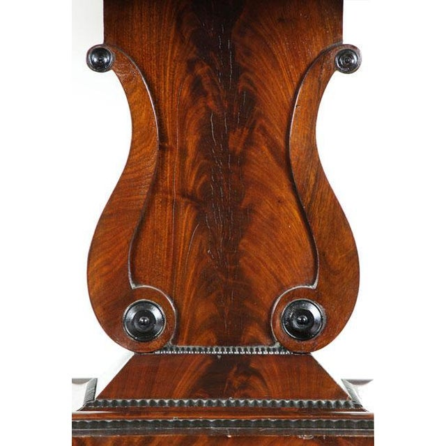 Marble Top Lyre Coffee Table: Lovely Mahogany & Marble Top Lyre Side Table