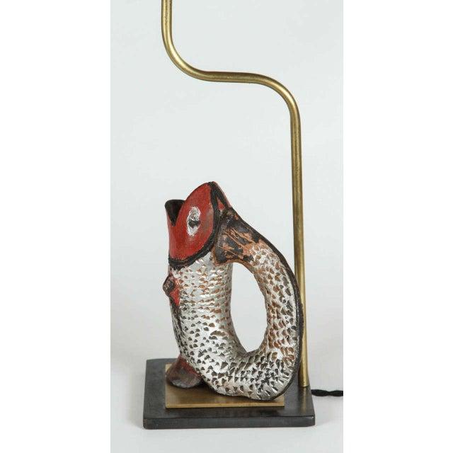 Fish Shaped Folk Art Pitcher Lamp - Image 4 of 4