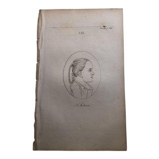 Girl in Profile Antique Physiognomy Art Print, 1804