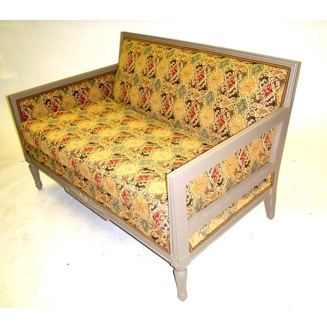 Louis XVI Style Painted Love Seat - Image 3 of 7