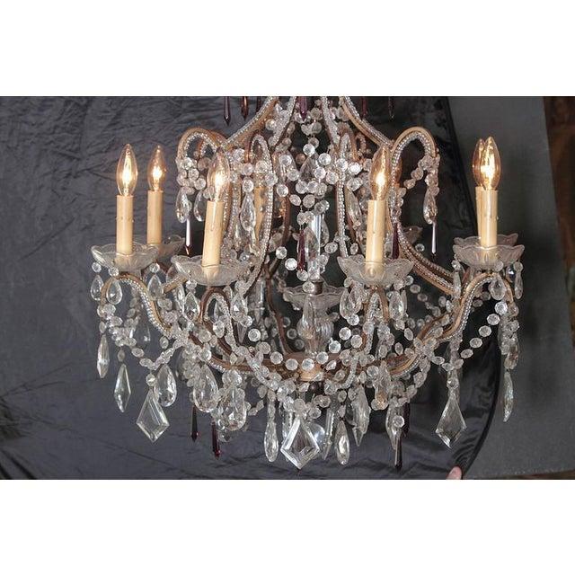 19th Century Italian 8-Light Crystal Chandelier - Image 3 of 10