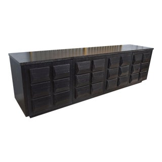 Monumental Ebonized Four-Door Credenza or Buffet by Jamie Herzlinger