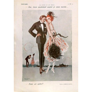 "1924 Fantasio ""Only When I'm Married"" Print by Bloch"