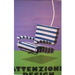 "Image of 2006 Design Exhibition Poster, ""Attenzione, Design"", Il Modo Italiano (Striped Chair)"
