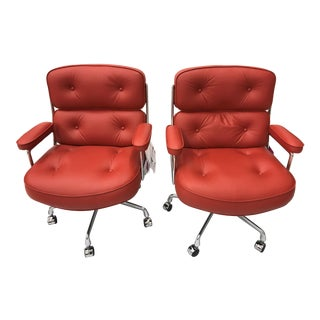 Leather Executive Eames Chairs - A Pair