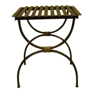 Three Pairs of French 1940s Modern Neoclassical Iron End Tables or Luggage Racks