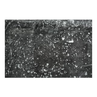 Genuine Brazilian Cowhide, Black + Silver Acid Wash