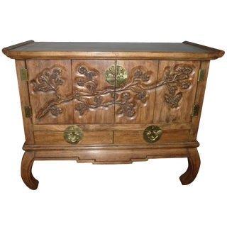 1970s Carved Buffet Credenza