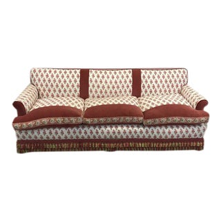 Kathy Ireland Bohemian Paisley Fabric Upholstered Sofa