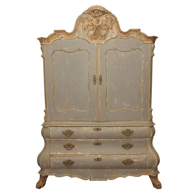 19th C Dutch Painted Buffet Deux Corp - Image 2 of 11