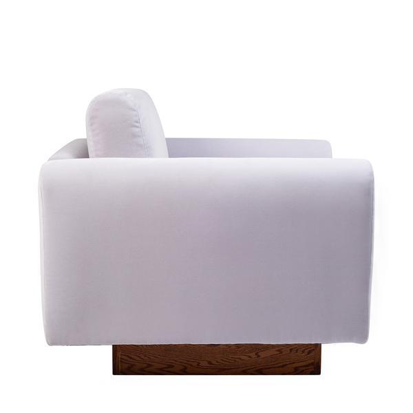 Harvey Probber Lavender Velvet Club Chairs - Pair - Image 3 of 10
