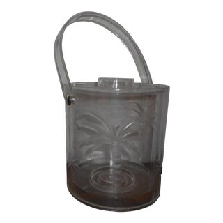 Mid-Century Lucite Palm Tree Ice Bucket