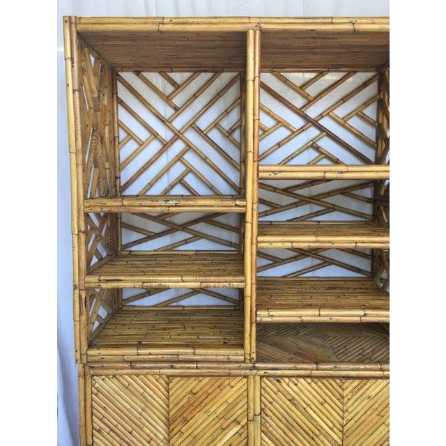 Vintage Split Bamboo Display Cabinet - Image 3 of 11