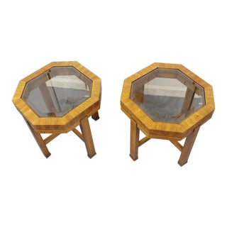 Forrest Bradshaw for Drexel Heritage Octagon Side Tables - A Pair