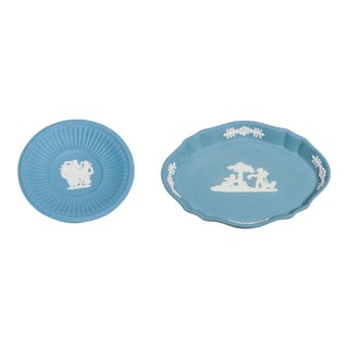 Blue Wedgwood Pin Trays- A Pair