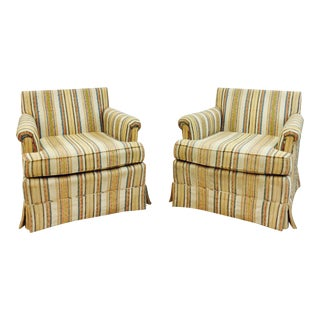Henredon Vintage Club Chairs - A Pair