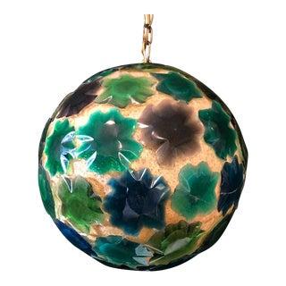 Vintage Mid Century Pendant Globe Swag Lamp