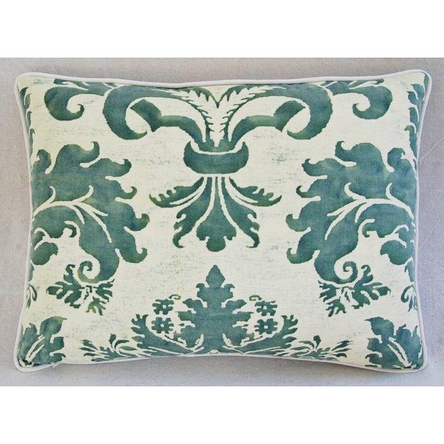 Image of Designer Italian Fortuny Glicine & Velvet Pillow